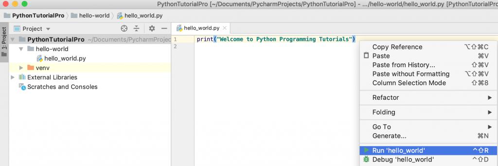PyCharm Run Python Script