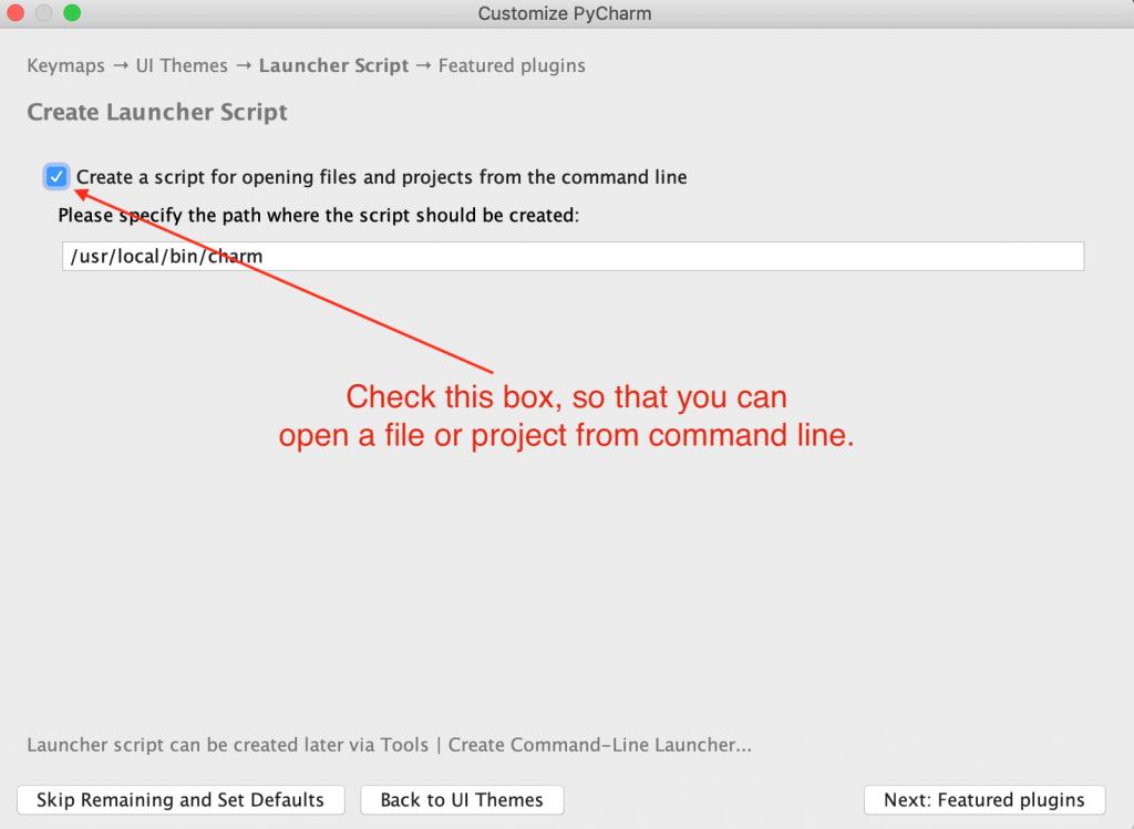 PyCharm Launcher Script