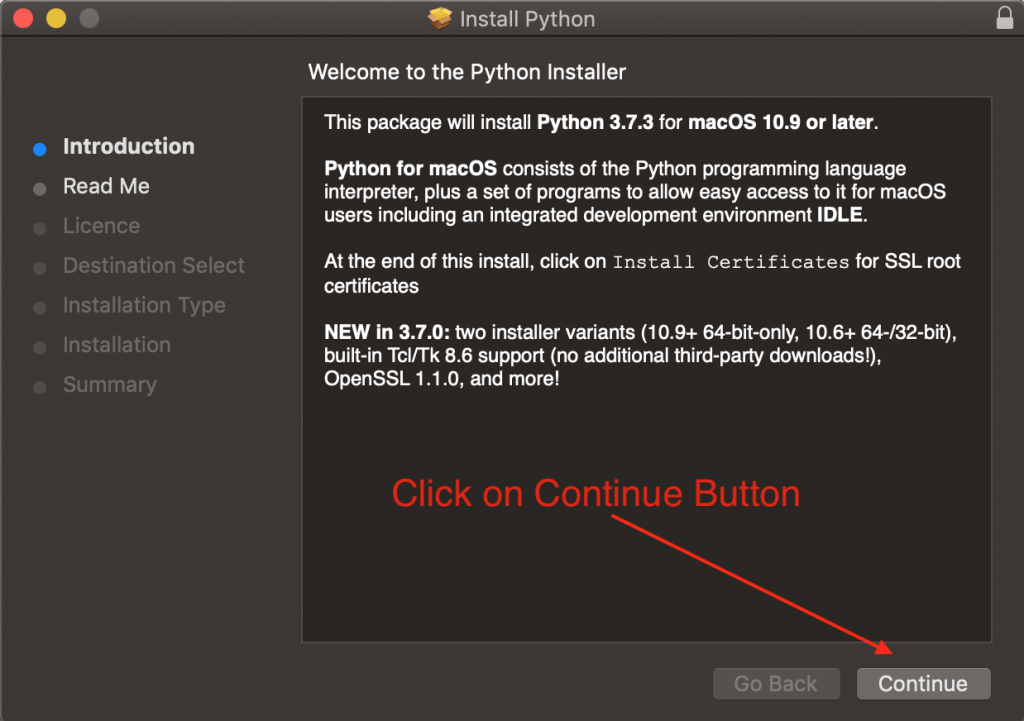 Install Python Mac Os Screen