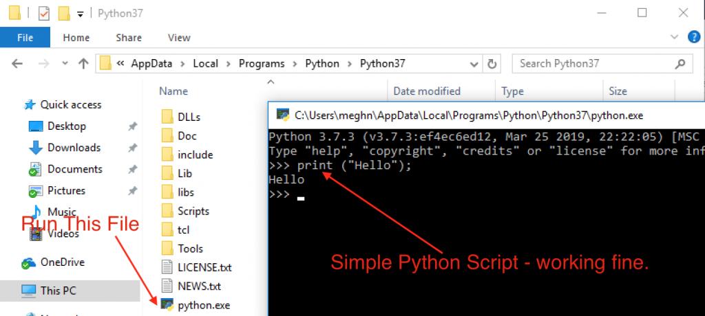 python cli tool windows