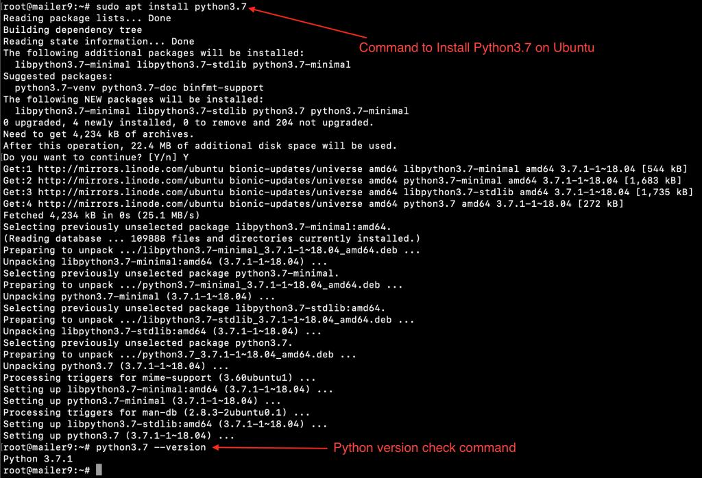 Python Install Ubuntu
