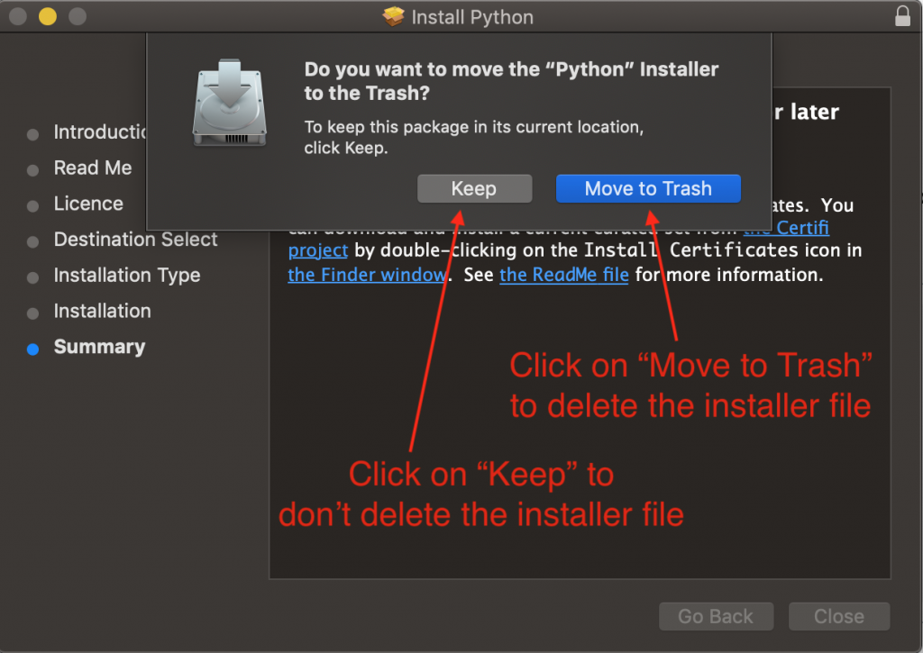 Python Installer Mac Os Move To Trash