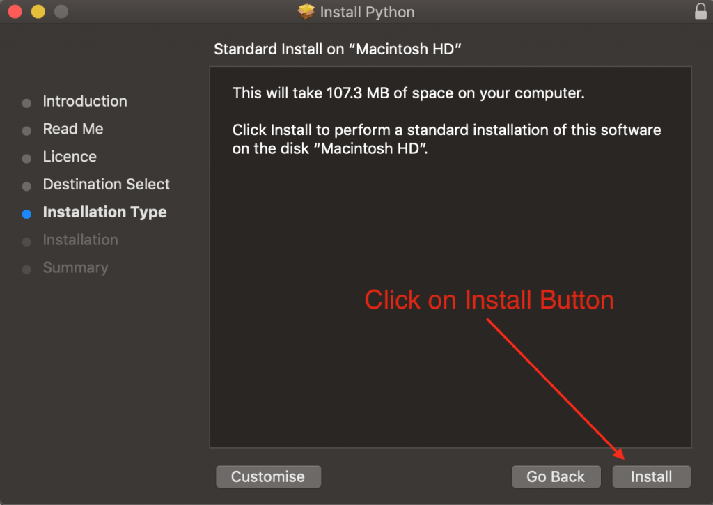 Python Mac Os Installer Information