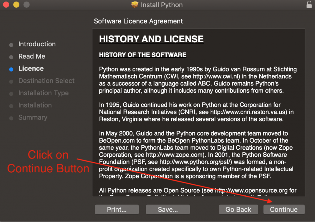 Python Mac Os Installer License Screen