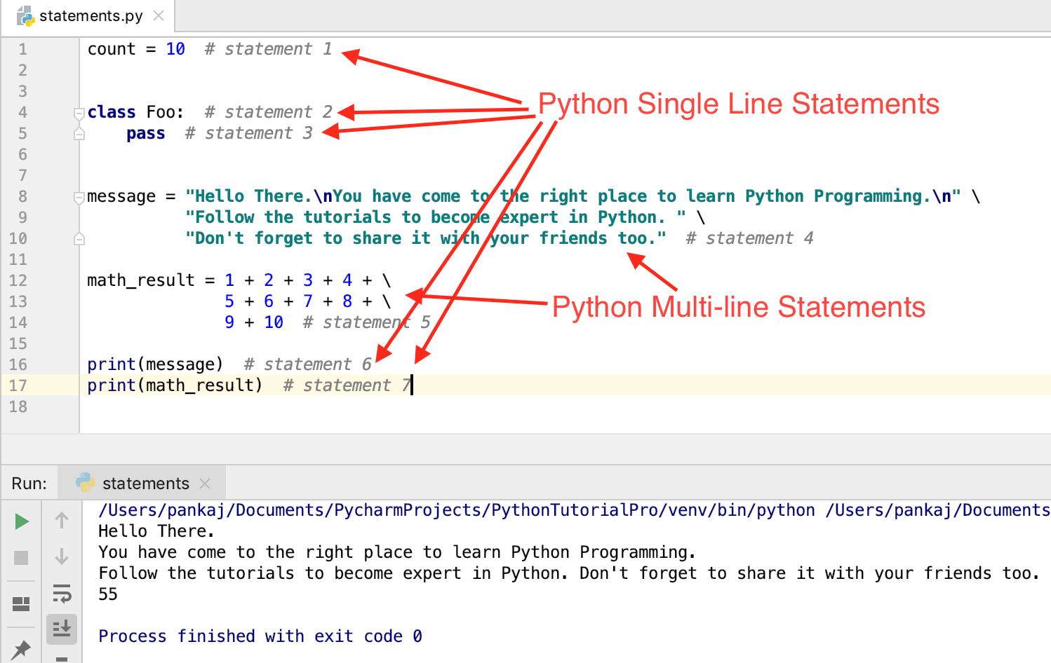 Python Statements   Multiline, Simple, and Compound Examples ...