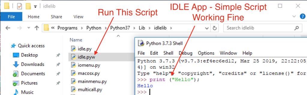 Python Windows IDLE app