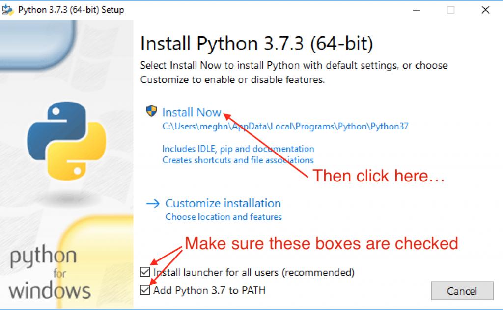 run python windows installer exe file