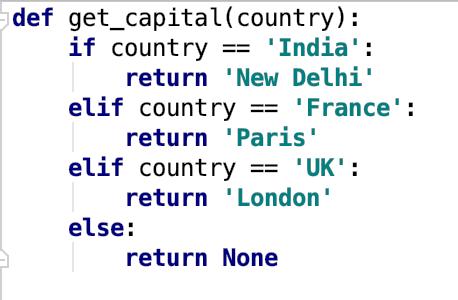 Python If Else Elif Example