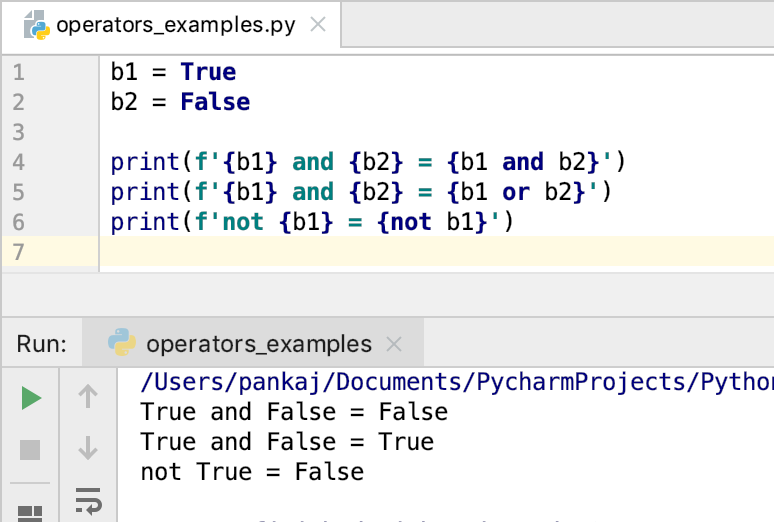 Python Logical Operators