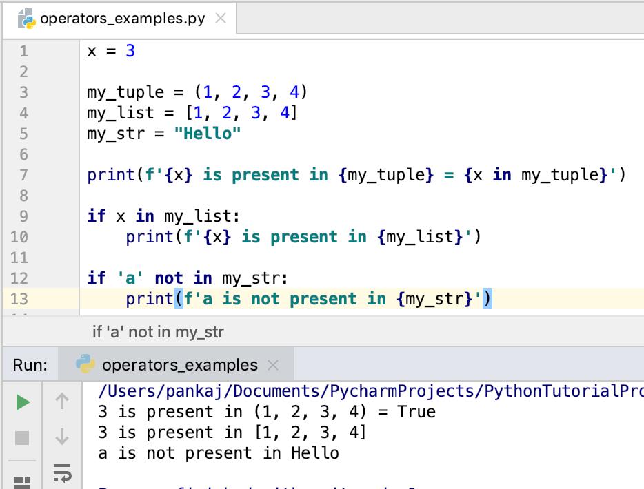 Python Membership Operators