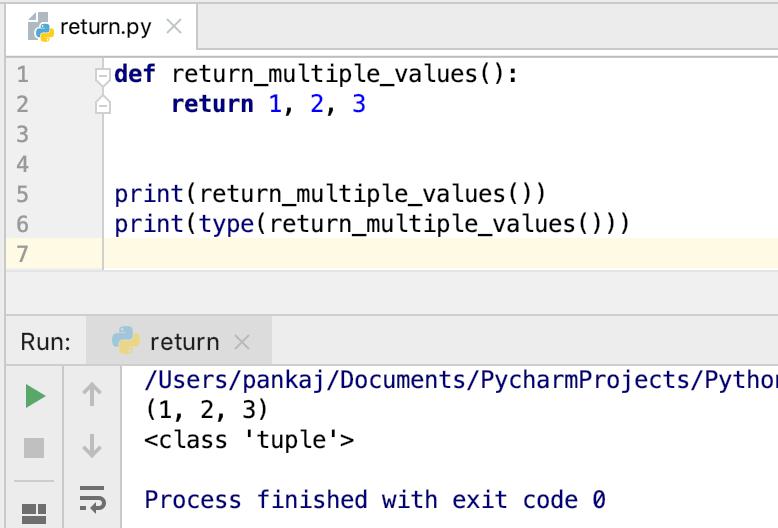 Python Return Multiple Values