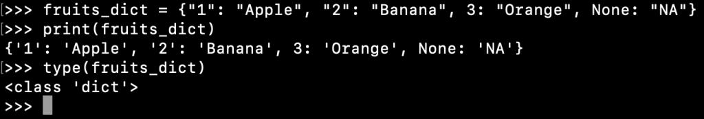 Creating A Python Dictionary