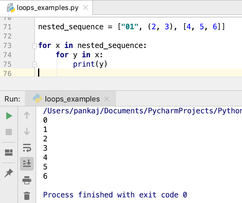 Nested Loops In Python