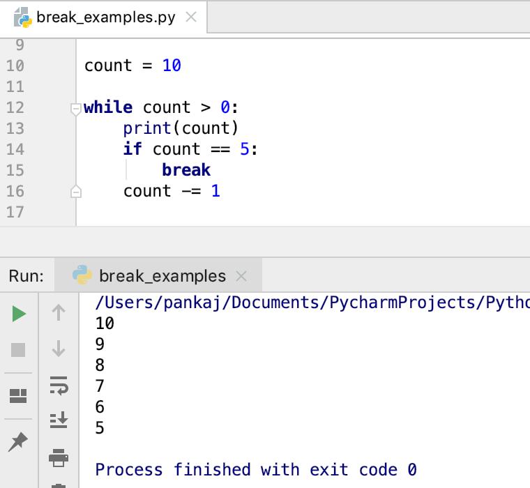 Python Break Statement While Loop