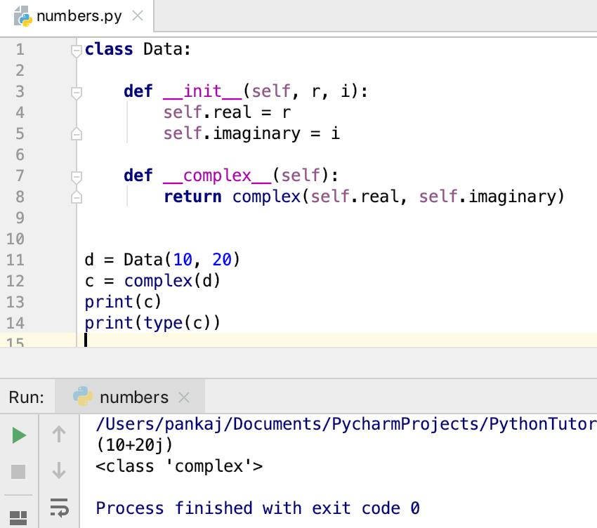 Python Complex Number