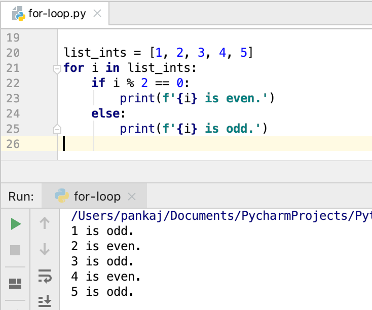 Python For Loop With List