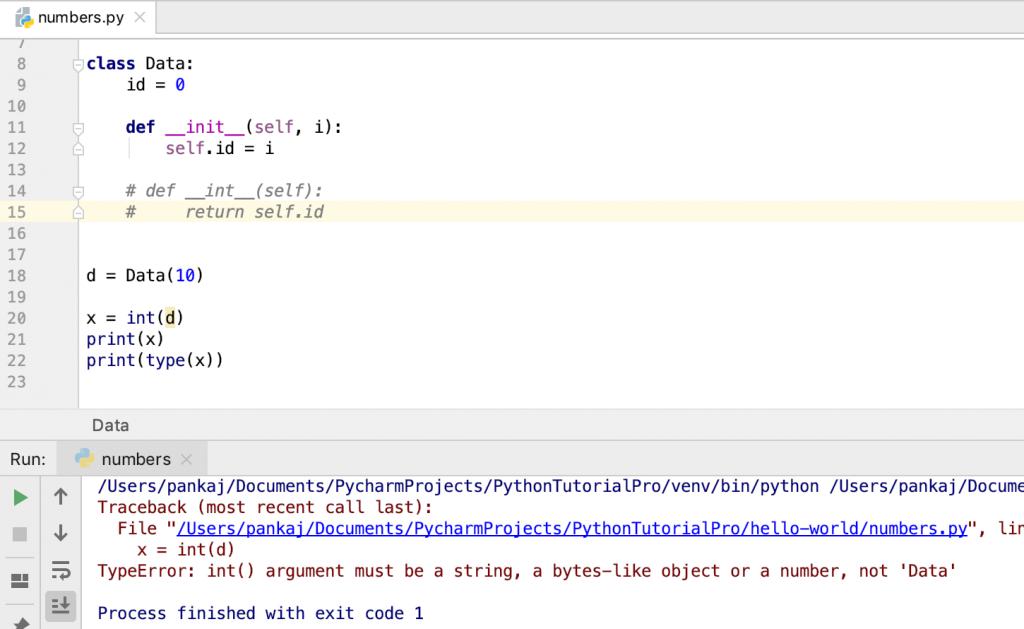 Python Int Typeerror