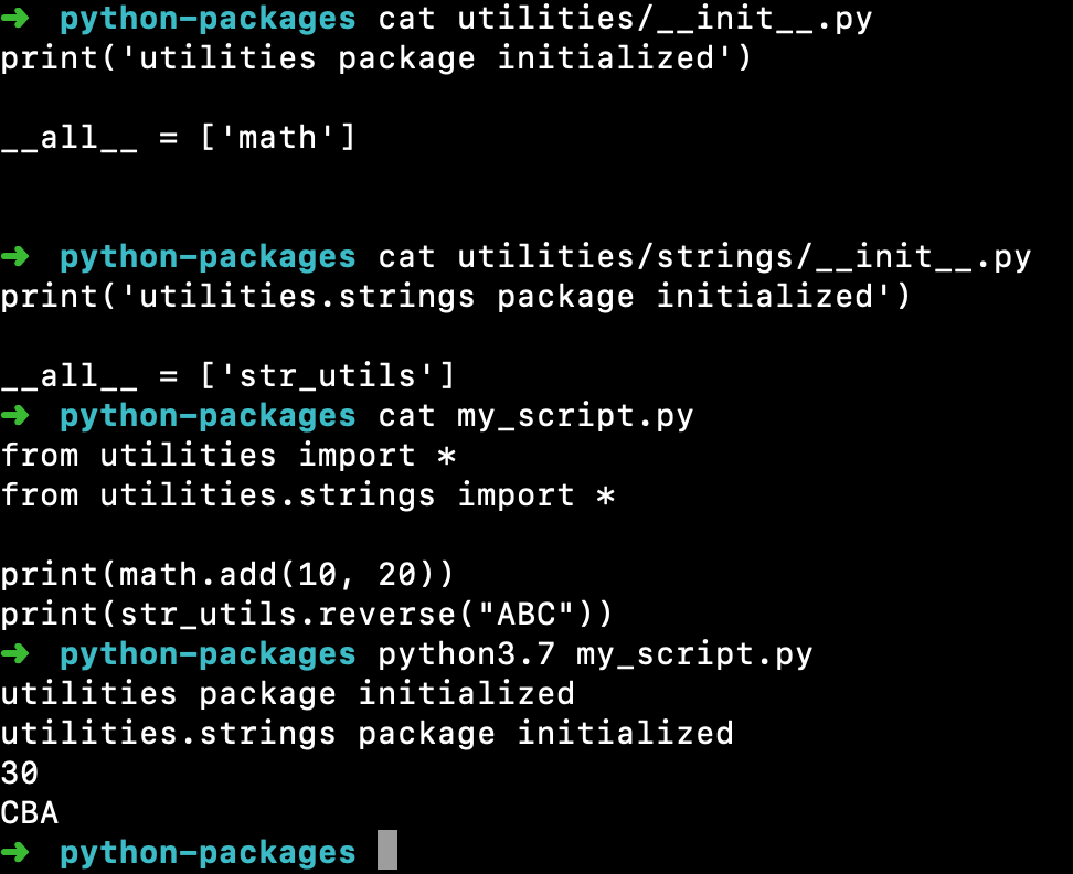 Python Package Init File All Modules List