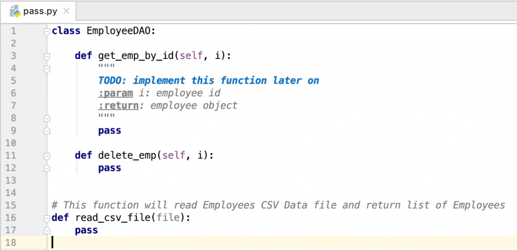 Python Pass Statement