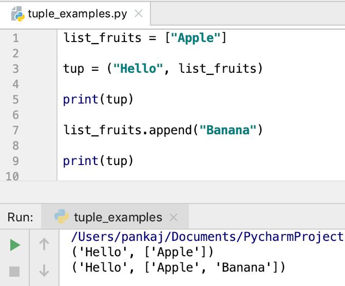 Python Tuple With Mutable Elements