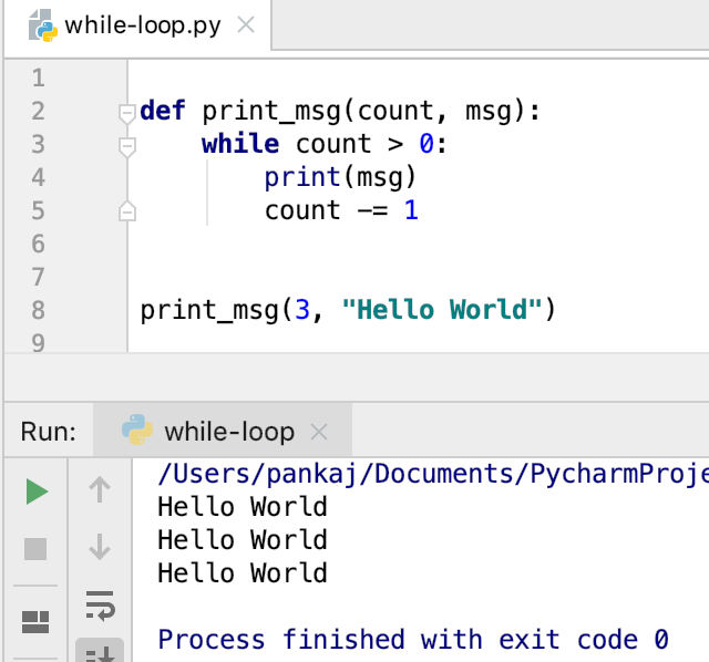 Python While Loop Example