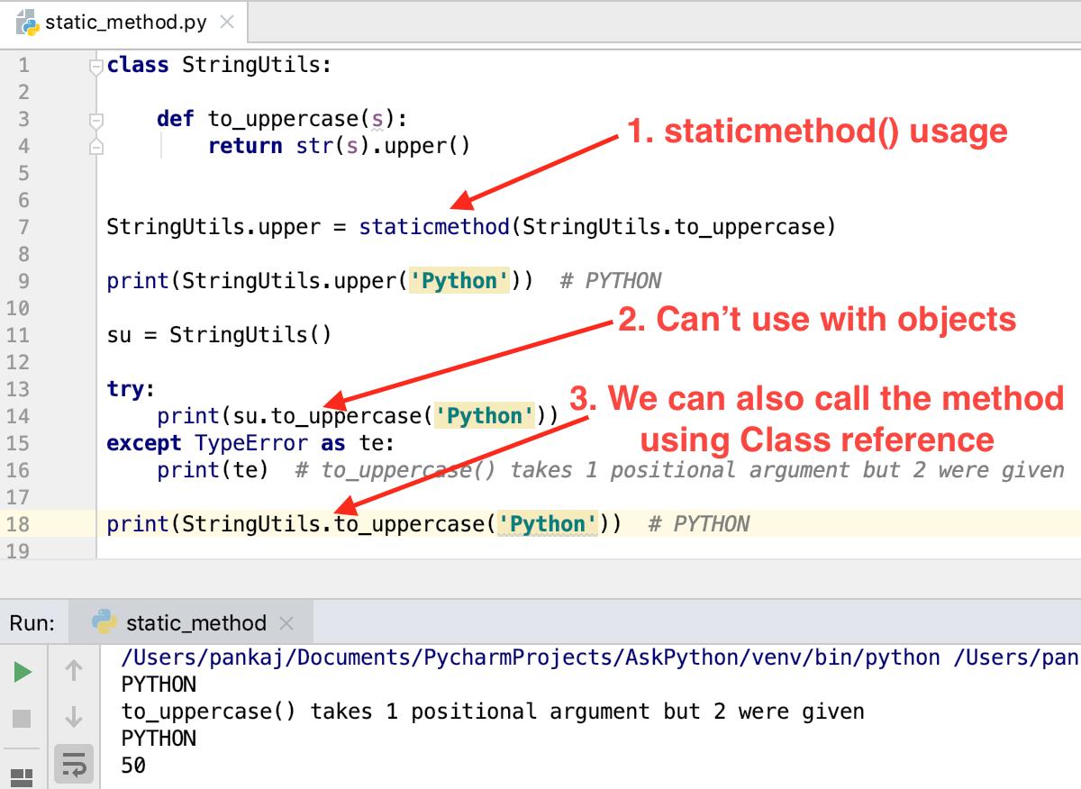 Python Static Method   AskPython