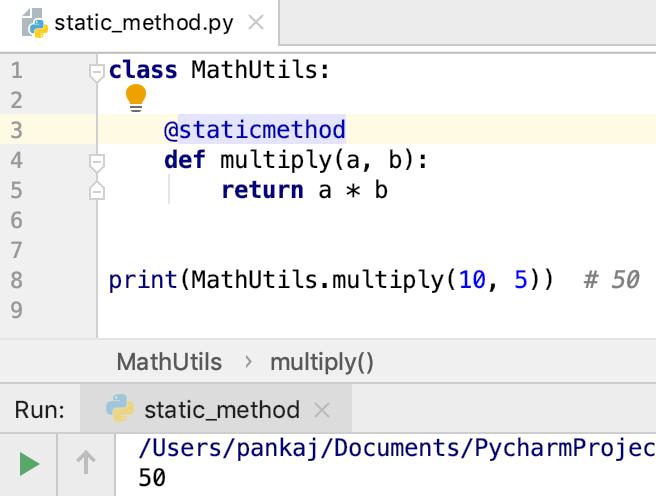 Python Staticmethod Decorator Annotation
