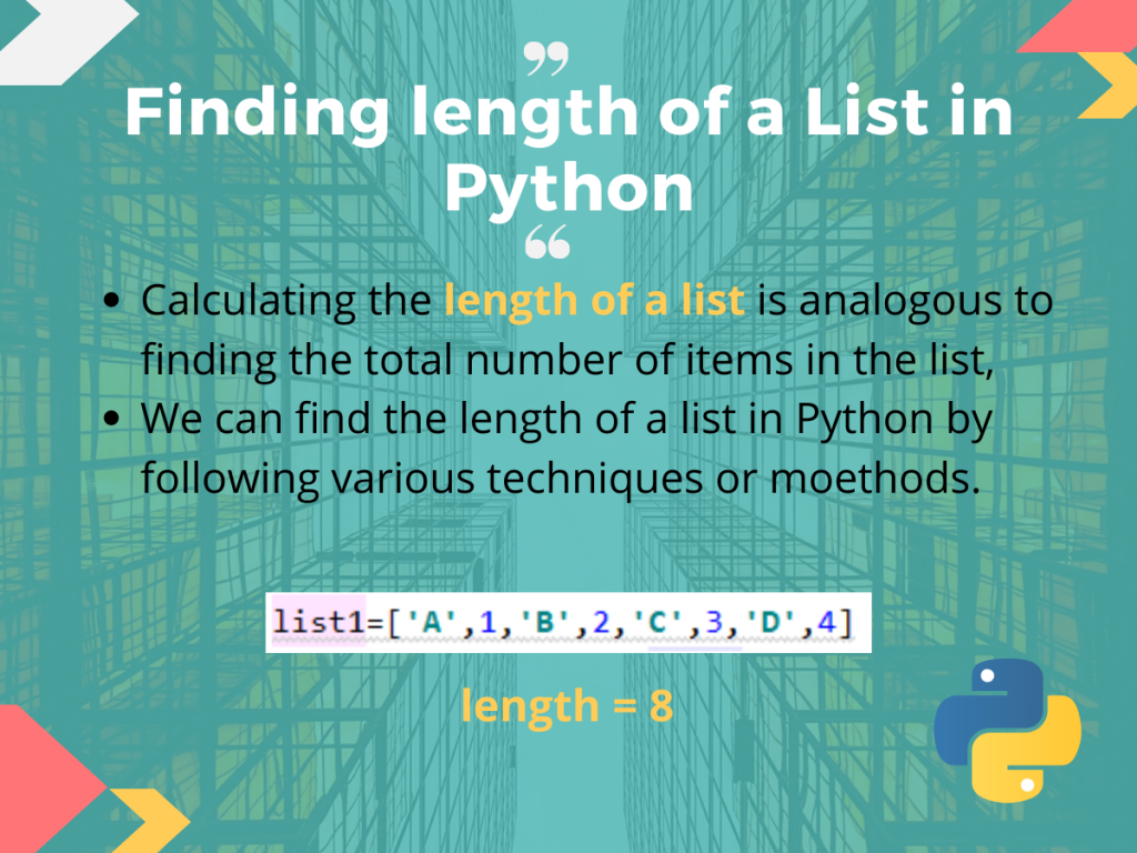Finding Length Of A List In Python