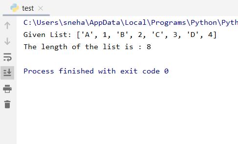 Calc Len Output