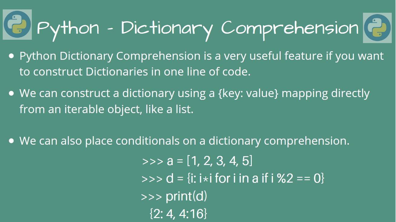 Understanding Python Dictionary Comprehension   AskPython