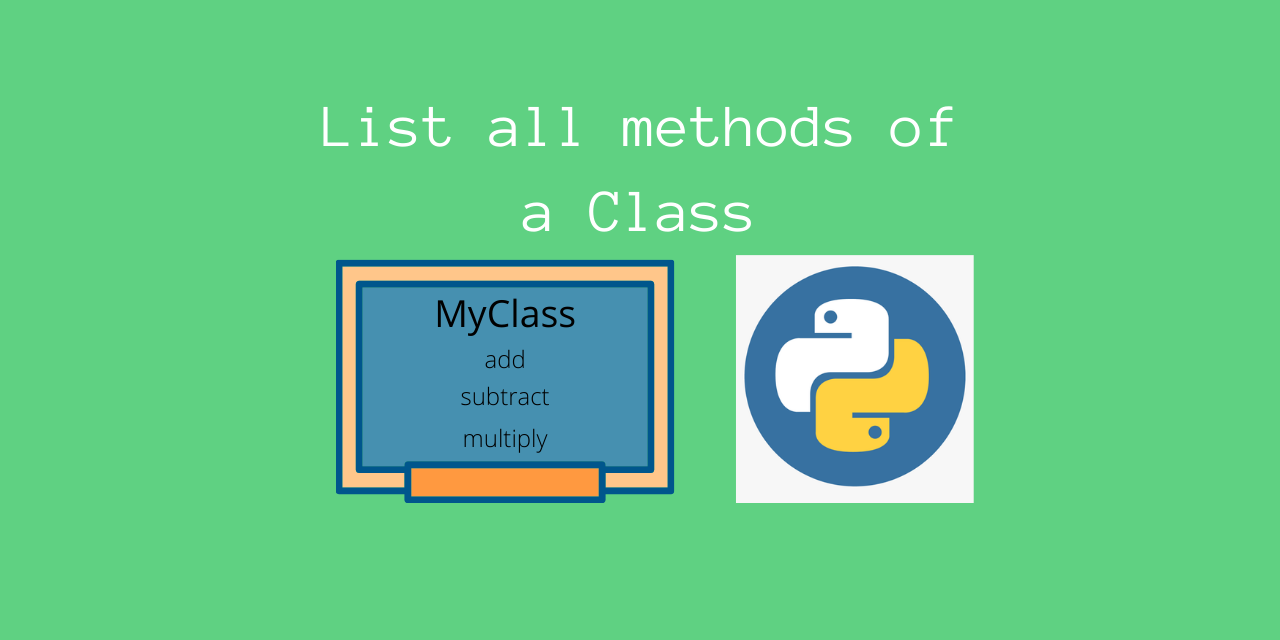 How to find all the methods of a given class in Python   AskPython