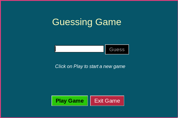 number guessing game GUI in Python