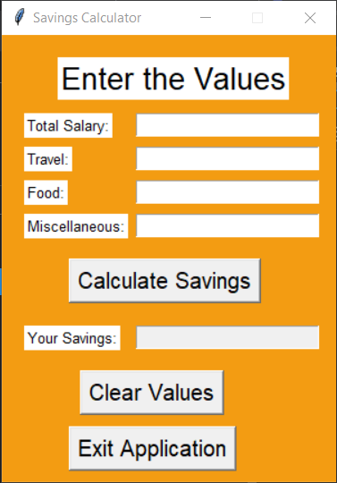 Final Design Savings Calculator