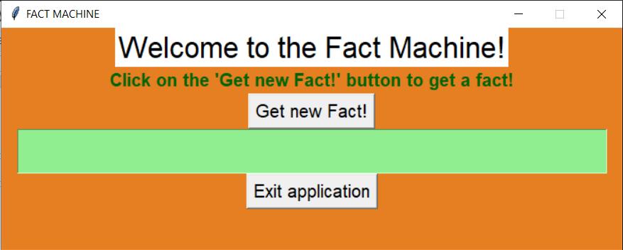 Initial Screen Fact Machine