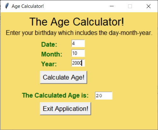 Output1 Age Calculator