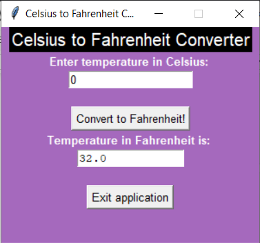 Output2 C2F Celsius to Fahrenheit